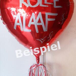 Folienballon Herz beschriftet
