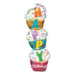 "Folienballon Cupcake ""Happy Birthday"""