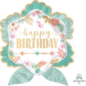 """Folienballon Boho Girl """"Happy Birthday"""""""