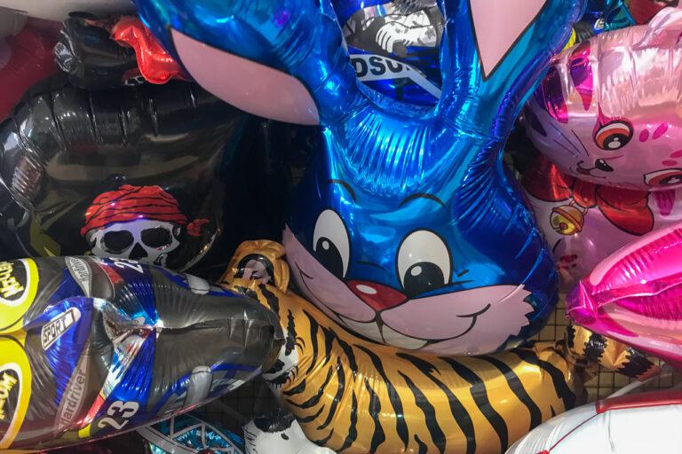 Folienballons in verschiedenen Formen