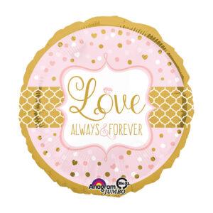 """Folienballon Rund """"Love - Always & Forever"""""""
