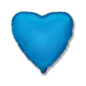 Folienballon blau Herz