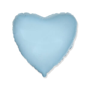 Folienballon hellblau Herz