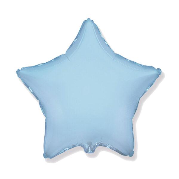 Folienballon hellblau Stern