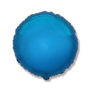 Folienballon blau Rund