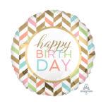 "Folienballon Rund ""Happy Birthday"""