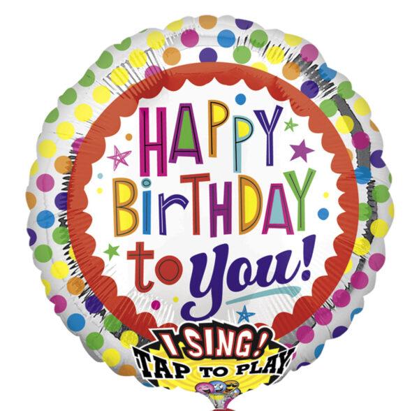 Happy Birthday Punkte (mit Musik)
