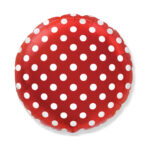 Dekorativer Folienballon Rund, Rot mit Punkten