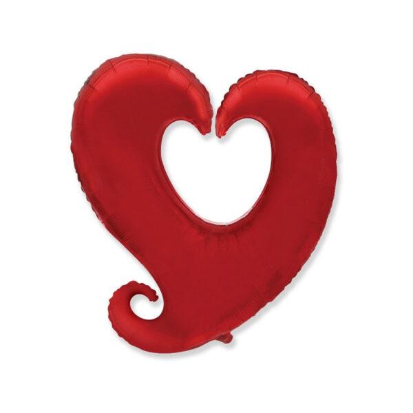 Folienballon in Herzform (Y) - Rot