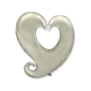 Folienballon in Herzform (Y) - Silber