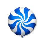 Ballon Candy Blau - Rund