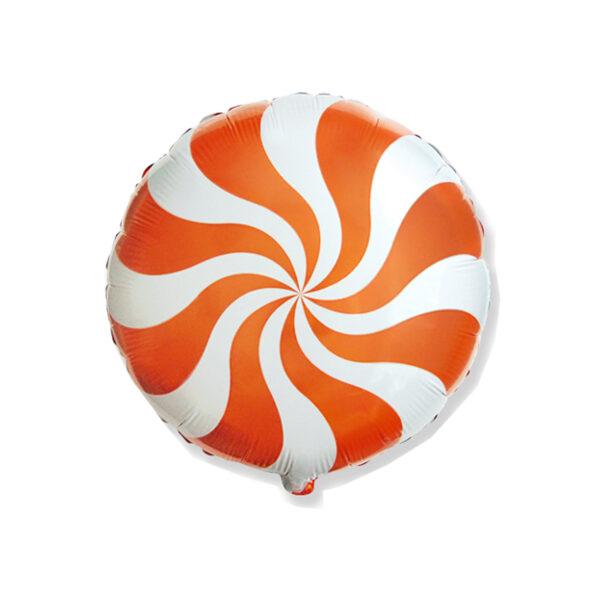 Ballon Candy Orange - Rund