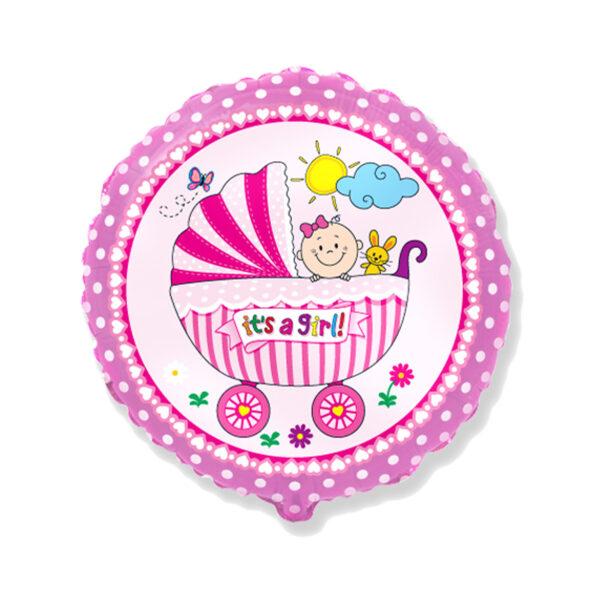 Folienballon Baby Girl