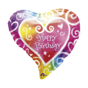Folienballon Happy Birthday - Herz