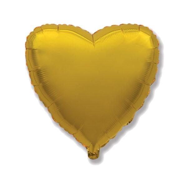 Folienballon Gold - Herz