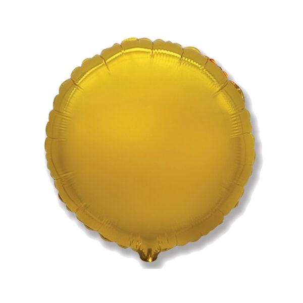 Folienballon Gold - Rund