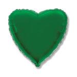 Folienballon Grün - Herz
