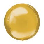 Folienballon Orbz Gold - Kugel