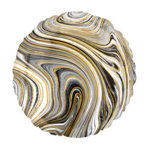 Marblez Black Circle - Rund