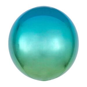 Folienballon Orbz Blue & Green - Kugel