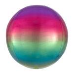 Folienballon Orbz Rainbow - Kugel
