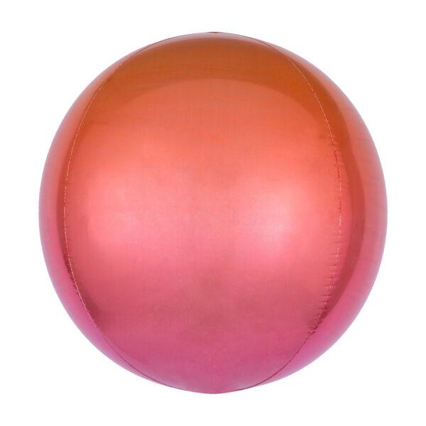 Folienballon Orbz Red & Orange - Kugel