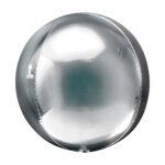 Folienballon Orbz Silber - Kugel