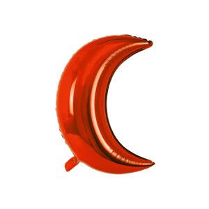 Folienballon Rot - Mond / Halbmond
