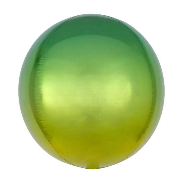 Folienballon Ombré Orbz Yellow & Green