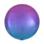 Folienballon Ombré Orbz Purple & Blue