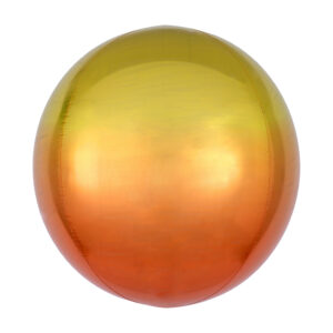 Folienballon Ombré Orbz Yellow & Orange