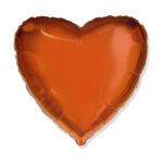 Folienballon Orange - Herz