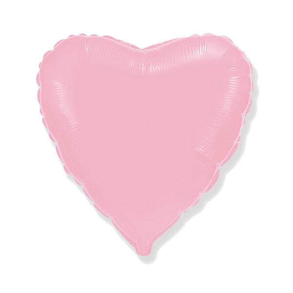 Folienballon Pastellrosa - Herz