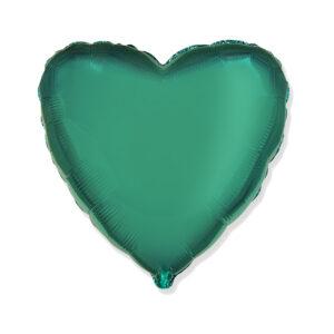 Folienballon Petrol - Herz