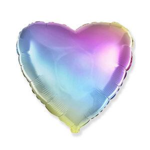 Folienballon Rainbow - Herz