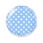 Dekorativer Folienballon Rund, Blau mit Punkten