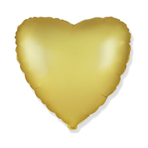 Folienballon Satin Gold - Herz