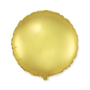 Folienballon Satin Gold - Rund