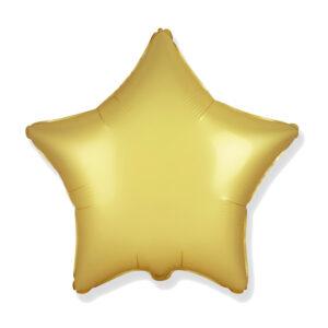 Folienballon Satin Gold - Stern