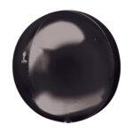 Folienballon Orbz schwarz - Kugel