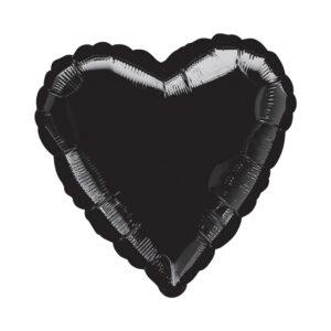 Folienballon Schwarz - Herz