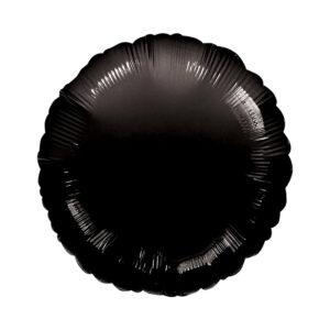 Folienballon Schwarz - Rund