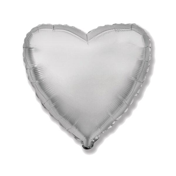 Folienballon Silber - Herz