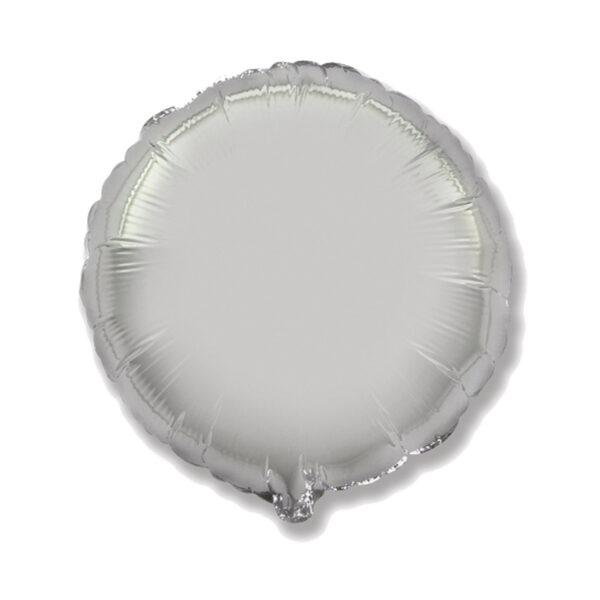 Folienballon Silber - Rund