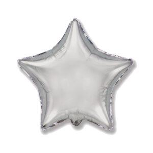 Folienballon Silber - Stern
