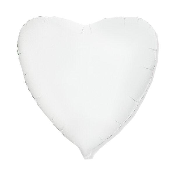 Folienballon Weiss - Herz