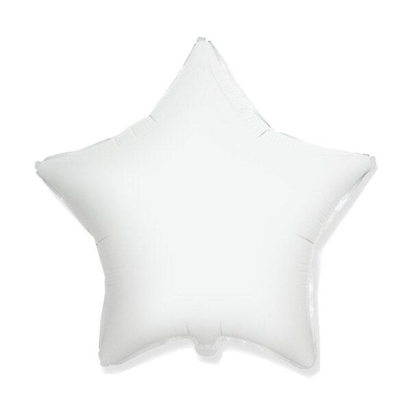 Folienballon Weiss - Stern