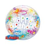 Ballon Happy Birthday - Kerzen