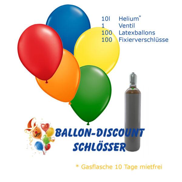 Angebot: 100 Ballons inkl. Helium und Zubehör
