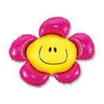 Folienballon Flower / Blume Pink